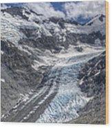Dart Glacier Above Cascade Saddle Mount Wood Print