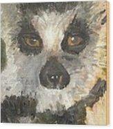Darth Lemur Wood Print