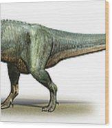 Daspletosaurus Torosus, A Prehistoric Wood Print