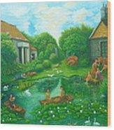Daughters Of The Lotus Pond Wood Print