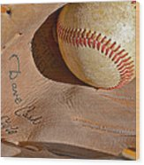 Dave Cash Mitt Wood Print