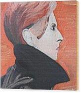 David Bowie Wood Print by Jeannie Atwater Jordan Allen