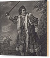 David Garrick 1717-1779, English Actor Wood Print