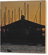 Davis Islands Yacht Club At Sunset Wood Print