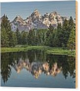 Dawn At Schwabacher Landing Wood Print