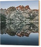 Dawn At Upper Sardine Lake Wood Print