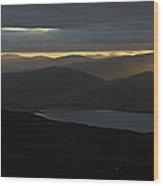 Dawn Breaks Over Loch Kishorn Wood Print