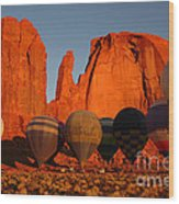 Dawn Flight In Monument Valley Wood Print