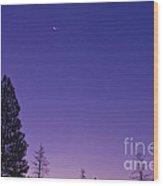 Dawn From My Window Wood Print