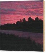Dawn Glory Wood Print by Richard De Wolfe