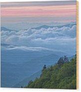 Dawn Great Smoky Mountains Wood Print
