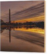 Dawn In The Capital Wood Print