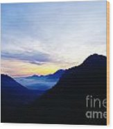 Dawn In The Foothills Of The Cascades  Wood Print
