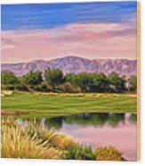 Dawn On The Golf Course Wood Print