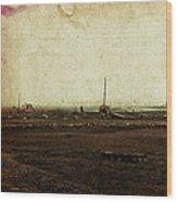 Dawn On The Lake Wood Print