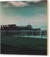 Dawn On The Seafront At Hastings Wood Print
