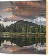 Dawn On The Snake River Wood Print