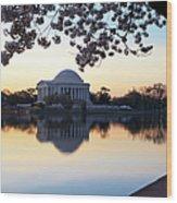 Dawn Over Jefferson Memorial Wood Print