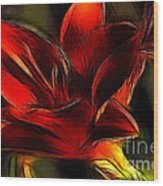 Day Lily Fractal Wood Print