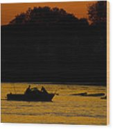 Day Of Fishing Is Over Wood Print