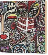 Day Of The Dead Cats Wood Print