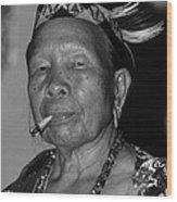 Dayak Woman Wood Print