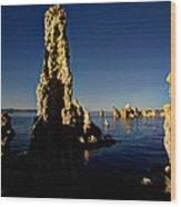Daybreak On Mono Lake Wood Print