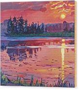 Daybreak Reflection Wood Print