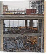 Daybreak Through Untidy Seventeen Wood Print