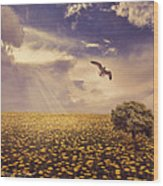 Daydream Wood Print by Lourry Legarde