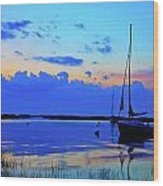 Day's End Rock Harbor Wood Print