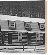 Days Of Yore Log Cabin Wood Print