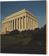 Daytime View Of The Lincoln Memorial Wood Print