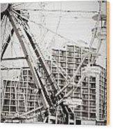 Daytona Beach Ferris Wheel Wood Print
