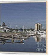 Daytona Boat Launch Wood Print