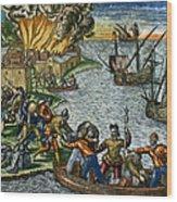 De Bry: Chicora, 1590 Wood Print