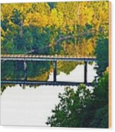 De Gray Bridge Wood Print by Jan Canavan