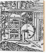 De Re Metallica, Ventilation Of Mines Wood Print