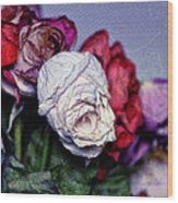 Dead Flowers Wood Print