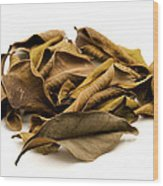Dead Leaves Wood Print