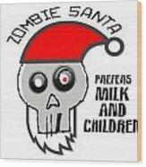Dead Santa Eats Wood Print