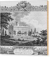 Deaf And Dumb Asylum, 1835 Wood Print
