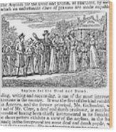 Deaf And Dumb School, 1842 Wood Print