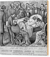 Death Of Garfield, 1881 Wood Print by Photo Researchers