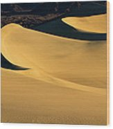 Death Valley And Photographer In Morning Sun Wood Print