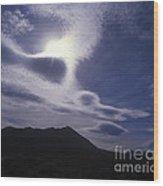 Death Valley Clouds Wood Print
