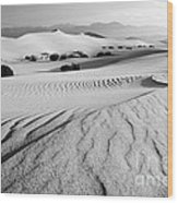 Death Valley Dunes 11 Wood Print by Bob Christopher