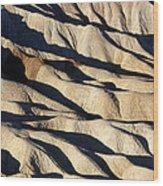 Death Valley Erosion Wood Print