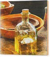Decanter Of Oil Wood Print