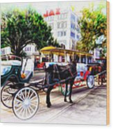 Decatur Street At Jackson Square Wood Print by Bill Cannon
